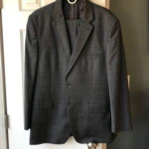 Blue-gray man's suit